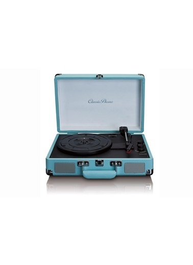 Lenco Classic Phono TT-11 Mavi Hoparlörlü Bluetoothlu Retro Pikap Plak Çalar Renkli